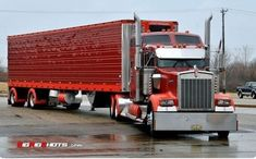 Custom Kenworth Conventional with an Aerodyne Sleeper & Matching Reefer Show Trucks, Big Rig Trucks, Custom Big Rigs, Custom Trucks, Kenworth Trucks, Peterbilt 379, Freight Truck, Truck Paint, Chip Foose