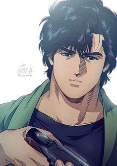 Film Anime, Manga Anime, City hunter, Nicky Larson, Hunter Anime, Angel Heart, Fantasy, Comics, Cute
