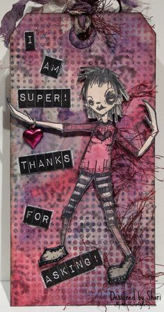 Artwork created by Shari using rubber stamps designed by Daniel Torrente for Stampotique Originals