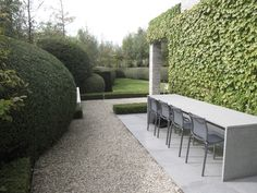 Contrast and harmony Outdoor Rooms, Outdoor Gardens, Outdoor Living, Beautiful Landscapes, Beautiful Gardens, Lush, Landscape Design, Garden Design, Zen
