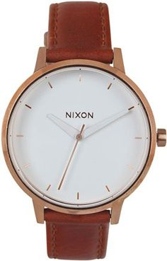NIXON THE KENSINGTON LEATHER WATCH   Swell.com yessss this is what I've been looking for