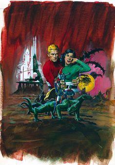 space1970: FLASH GORDON Comic Cover Art by George Wilson