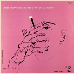"Stan Getz ""Interpretations by the Stan Getz Quintet, vol. 3"" Norgran Records MG N 1029  12"" LP Vinyl Record (1955) Album Cover Art by David Stone Martin"