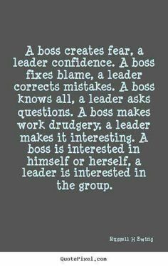 Difference between boss and leaders..