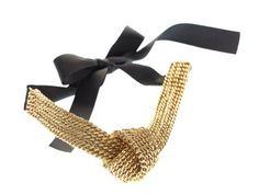 Naszyjnik tkany ręcznie za pomocą unikalnego splotu KOD w kolorze sarego złota i czerni.
