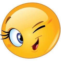 Illustration about Design of a female emoticon winking. Illustration of eyelashes, character, emoji - 41014844 Emoticon Faces, Funny Emoji Faces, Funny Emoticons, Smiley Faces, Happy Smiley Face, Smiley Emoji, Images Emoji, Emoji Pictures, Emoji Love