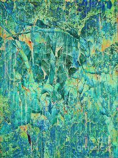 Cracks in Blue by Meghan at FireBonnet Designs #abstract #art #homedecor