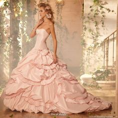 pink wedding dress - Google Search