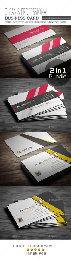Business Card Bundle 2 In 1 - Corporate Business Cards Download here : https://graphicriver.net/item/business-card-bundle-2-in-1/19697087?s_rank=19&ref=Al-fatih