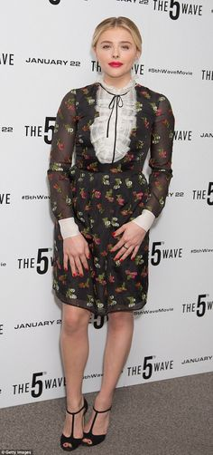 Ready for her close up: Chloe Moretz pulled off another stylish look as she hit London for...