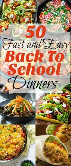 50 Fast and Easy Back To School Dinners from Noshing With The Nolands will help you out when you are short on time!