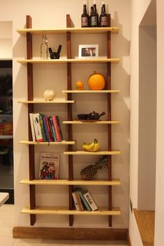 Inspired by two recent posts, I built a set of floating shelves for the kitchen. - Imgur