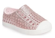 cc95a8ffa8a23 Native Shoes Jefferson - Bling  Slip-On Sneaker - Milk Pink Bling  Shell  White