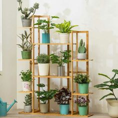 Bamboo Plants, Tall Plants, Green Plants, Tall Plant Stands, Wood Plant Stand, Flower Planters, Flower Pots, Plant Ladder, Corner Plant