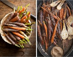 Roasted carrots with chaat masala
