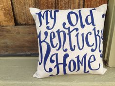 My Old Kentucky Home navy script  - state song - fathers day on Etsy, $32.00