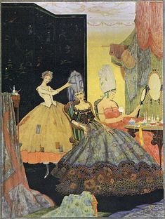 """Cinderella and Her Wicked Sisters"" illus. Harry Clarke, found on Finsbry's Flickr."