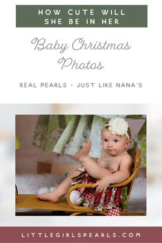 Just like her Nana's these pearls are real! Gift your little one with a set of pearl jewelry that will have her looking her best in her Christmas photos. Find the perfect Christmas gift: littlegirlspearls. Love Bracelets, Silver Bracelets, Silver Earrings, Pearl Earrings, Baby Christmas Photos, Perfect Christmas Gifts, Great Gifts For Women, Gifts For Girls, Pearl Jewelry