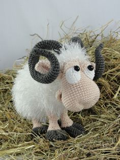 Rambert the Ram Amigurumi Pattern by IlDikko - Craftsy                                                                                                                                                                                 Más