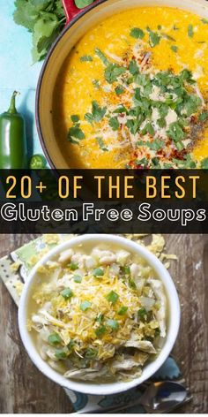 of the Best Gluten Free Soup Recipes perfect for the fall and winter months! You will love how easy this makes meal planning! of the Best Gluten Free Soup Recipes perfect for the fall and winter months! You will love how easy this makes meal planning! Vegan Crockpot Recipes, Fall Soup Recipes, Healthy Soup Recipes, Pumpkin Recipes, Dinner Recipes, Gf Recipes, Healthy Eats, Gluten Free Recipes For Kids, Gluten Free Soup