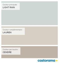 Castorama Nuancier Peinture - Mon harmonie Peinture LIGHT RAIN satin de COLOURS Collection House Color Schemes, House Colors, Light Painting, Painting Tips, Baby Corner, Satin Color, Pantone, Paint Colors, Beautiful Homes