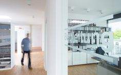 Modulare Büroeinrichtung, Möbelbausystem, busch gerüstbau   System 180