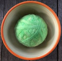 Fetch2.5!  Alpaca and Wool Fiber Dog Ball in Willow Springs Green