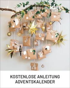 DIY: Last-minute advent calendar to tinker with the free instructions. - DIY: Last-minute advent calendar to tinker with the free instructions. Christmas Mood, Christmas Crafts, Christmas Decorations, Holiday, Diy Calendario, Diy Crafts To Do, Diy Advent Calendar, Diy Weihnachten, Christmas Printables
