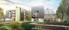 Appartements Neufs, Les Dolérites VENDENHEIM - Vue extérieure Futur ensemble de 20 logements au coeur de l'EcoQuartier des Portes du Kochersberg à Vendenheim en accession à la propriété sécurisée.