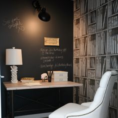 Oh, I'm having this one for my office! Chalkboard paint - genius.