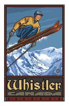 Whistler Ski Poster