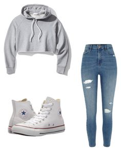"""Untitled #20"" by anyahmccrimmon on Polyvore featuring Frame, River Island and Converse"