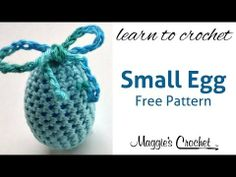Small Easter Egg Free Crochet Pattern - Right Handed - YouTube