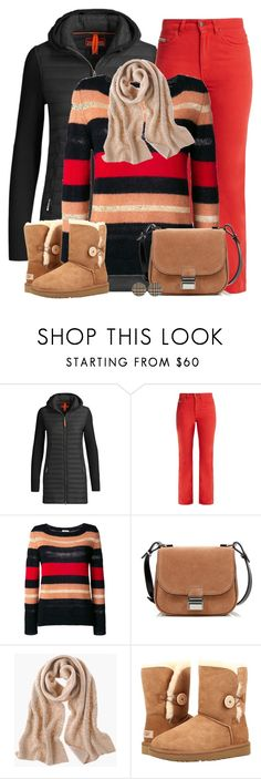 """""""Red Hot"""" by asigworth ❤ liked on Polyvore featuring Parajumpers, AlexaChung, P.A.R.O.S.H., Proenza Schouler, Chico's, UGG and Simons"""