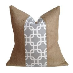 I pinned this Claire Pillow In Gray from the A Bit of Burlap event at Joss and Main!