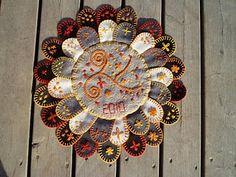 klackmatta - a traditional swedish felt rug #embroidery