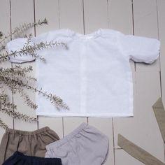 Blouse blanche bébé plumetis de coton manches par ZABOfaitsonnid