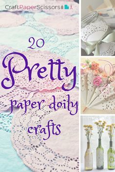 20 Pretty Paper Doily Crafts You Have to See