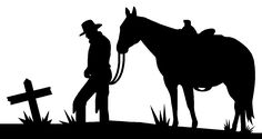 silhouette patterns | Leaning Cowboy Silhouette Pattern After the civil war, the west,