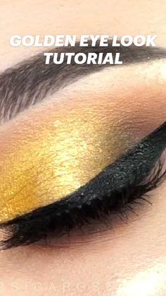 Bridal Eye Makeup, Gold Eye Makeup, Makeup Eye Looks, Beautiful Eye Makeup, Eye Makeup Art, Perfect Makeup, Eyebrow Makeup, Pretty Makeup, Makeup Tips