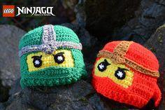Inspired by Lego Ninjago Crochet Hats, Lego Hats, NInja Lego, Newborn Hat and Photo Prop