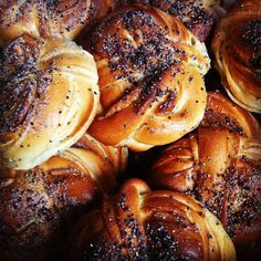 The best cardamom buns in the world, seriously. Ronaldo's bread, Linköping, Sweden.