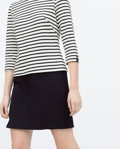 Image 2 of COMBINED STRIPED DRESS from Zara