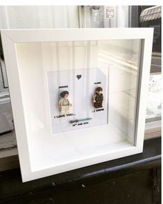 Star Wars I Love You Know Princess Leia And Han Solo Lego Replica Personalised Wall Art Box Frame Picture Engagement Or Wedding Gift