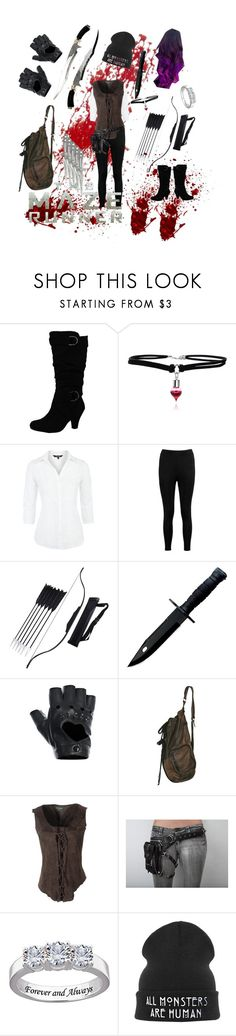 """""""Maze Runner"""" by soulless-demon ❤ liked on Polyvore featuring Maine New England, Boohoo, Fracomina and Holster"""