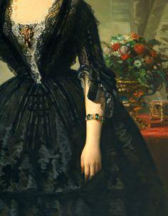 María Dolores de Aldama y Alfonso, marquesa de Montelo (detail), Federico deMadrazo y Kuntz.