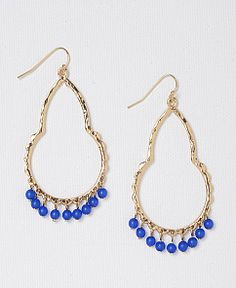 - Teardrop and Beaded Earrings