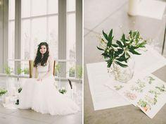 Decoración de una boda botánica