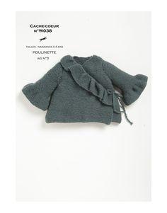 Modèle cache-coeur w038- patron tricot gratuit - Cheval blanc