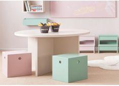 TABLE ENFANT AVEC ASSISES DESIGN SUR MESURE ASORAL EN VENTE CHEZ WWW.KSL-LIVING.FR